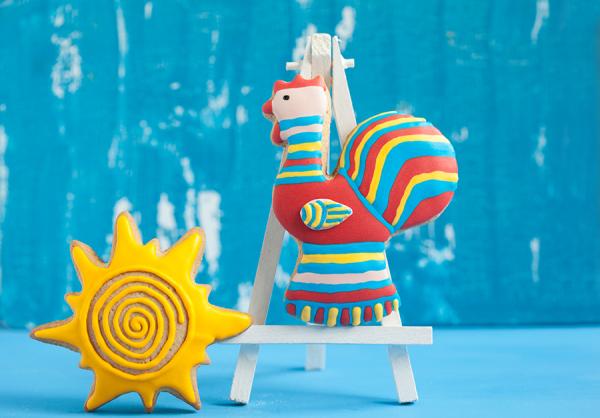 Филимоновская игрушка: Петушок