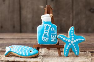 Морской набор (рыбки, звезда и бутылка)