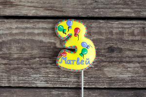 Цифра-топпер на торт